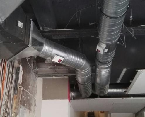 Kat Systems München Kaufhaus Nachrüstung einer Klimaanlage Montage Türluftschleieranlage Austausch der Lüftungsanlage